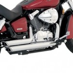 Vance & Hines Shortshots Staggered Exhaust for 750 Shadow Aero 04-15