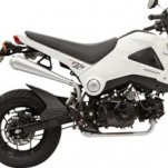 Bassani Small Megaphone Full Exhaust for Grom 125 14-15