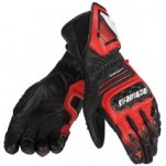 Dainese Carbon Cover ST Gloves Black/Red-Lava/White