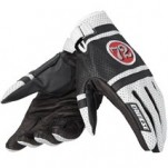Dainese Hot Rodder Gloves White/Red-Lava/Black