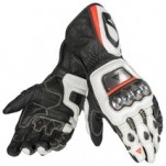 Dainese Full Metal D1 Gloves Black/White/Red-Fluo