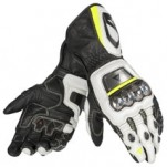 Dainese Full Metal D1 Gloves Black/White/Yellow-Fluo