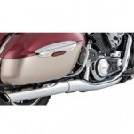 Vance & Hines Twin Slash Round Slip-On Muffler for VN1700 Vulcan Voyager 09-13