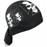 Zan Headgear Flydanna Headwrap Iron-Cross-Skull