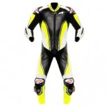 Alpinestars Racing Replica One-Piece Leather Suit Black/Yellow-Fluo/White (Closeout)