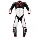Alpinestars Men's Atem Leather Suit Black/White/Red