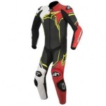 Alpinestars GP Plus Leather Suit Black/White/Red/Yellow-Fluo