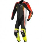 Alpinestars GP Tech V2 Leather Suit Black/White/Red/Fluo-Yellow