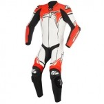 Alpinestars GP Plus V2 Leather Suit White/Black/Fluo-Red
