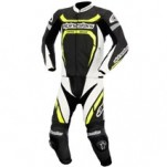 Alpinestars Motegi Two-Piece Leather Suit Black/White/Yellow