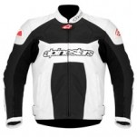 Alpinestars GP Plus Perforated Leather Jacket White/Black