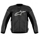 Alpinestars Men's TZ-1 Reload Perforated Leather Jacket Black/White (Closeout)