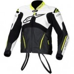 Alpinestars Atem Leather Jacket White/Black/Yellow-Fluo