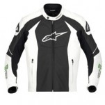 Alpinestars GP-M Perforated Leather Jacket Black/White/Green