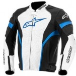 Alpinestars GP Plus R Perforated Leather Jacket Black/White/Blue