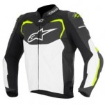 Alpinestars GP Pro Leather Jacket Black/White/Yellow-Fluo