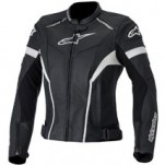 Alpinestars Women's Stella GP Plus R Leather Jacket Black/White