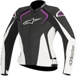 Alpinestars Women's Stella Jaws Leather Jacket Black/White/Pink