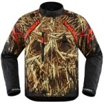 Icon DKR Splintered Jacket Black/Gold/Red (Closeout)
