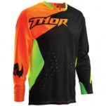 Thor Core Air Divide Jersey Black/Flo-Orange/Flo-Green (Closeout)