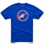 Alpinestars Lucent Short-Sleeve T-Shirt Royal-Blue (Closeout)
