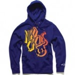 Alpinestars Skewed Zip Fleece Hoody Midnight Navy (Closeout)