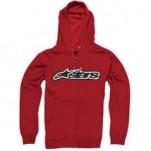 Alpinestars Men's Decal Zip Hoody Red