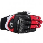 Alpinestars SMX-2 Air Carbon Leather Gloves Red/Black