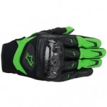 Alpinestars SMX-2 Air Carbon Leather Gloves Green/Black