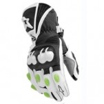 Alpinestars GP-M Leather Gloves Black/White/Green