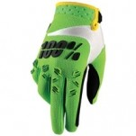100% Airmatic Gloves Green/White/Black (Closeout)