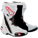 Alpinestars Men's Supertech R Boots White/Red-Vented