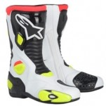 Alpinestars Men's S-MX 5 Boots White/Black/Yellow-Fluo (Closeout)