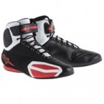 Alpinestars Men's Faster Vented Shoes Black/White/Red (Closeout)
