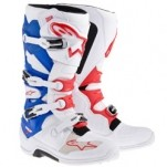 Alpinestars Men's Tech 7 Boots White/Red/Blue (Closeout)