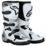 Alpinestars Youth Tech 6S Boots White/Silver