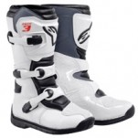 Alpinestars Youth Tech 3S Boots White/Black