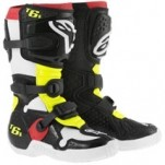 Alpinestars Youth Tech 6S Boots Black/Red/Yellow-Fluo