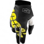 100% I-Track Gloves Black/Yellow