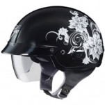 HJC IS-2 Blossom MC-5 Helmet Black/Silver