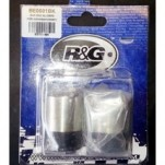 SUPER SALE R&G Racing Bar End Sliders for ZX6R 00-13 and Others, Silver