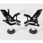 LighTech Adjustable Track System Rearsets (Fixed Footpegs) for ZX636 05-06