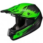 HJC CS-MX Second Phase MC-4F Helmet Green/Black (Closeout)