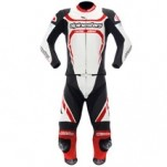 Alpinestars Motegi Two-Piece Leather Suit White/Black/Red