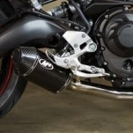 M4 Carbon Fiber Slip-on Exhaust for FZ09 14