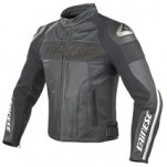 Dainese Alien Leather Jacket Black/White