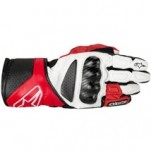 Alpinestars SP-8 Leather Gloves White/Red/Black