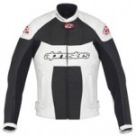 Alpinestars Women's Stella GP Plus Leather Jacket Black/White (Closeout)