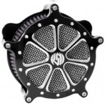 Roland Sands Design Venturi Air Cleaner Speed 7, Platinum Cut for FXCW/FXCWC 08-11