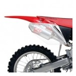 Yoshimura RS-3D Dual Oval Slip-On Mufflers for CRF250R 06-08